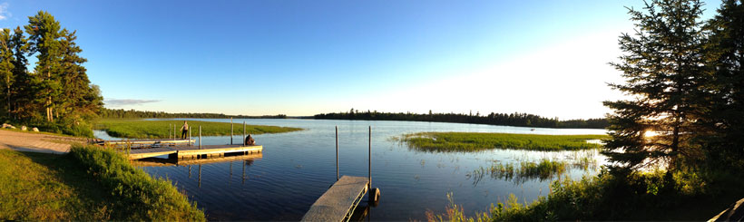 Lake Itasca, source of the Mississippi River