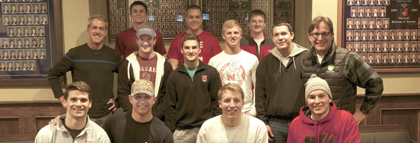 Dean with Sig Ep Fraternity, Nebraska